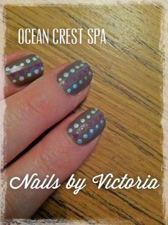 Nails by Victoria, our nail tech! @HiltonCarlsbadResort @wild thing Crest Spa