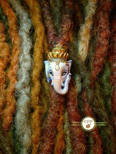 Lord Ganesha Dread Bead by GFProjects on Etsy