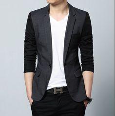 Men's Slim Fit TwoTone Blazer with Pocket