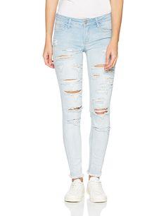 TALLY WEIJL Damen Skinny Jeans SPADEZOE8, Blau (Denim Blue-Ehbs Ehbs), 32 Tally Weijl, Blue Denim, Skinny Jeans, Pants, Fashion, La Mode, Blue, Women's, Trouser Pants