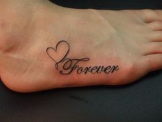 No wonder why foot tattoos have become significantly popular among girls. Check this Foot Tattoo Designs. Unendlichkeitssymbol Tattoos, Word Tattoos, Trendy Tattoos, Body Art Tattoos, Tattoos For Women, Tatoos, Quote Tattoos, Writing Tattoos, Couple Tattoos