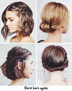 Updo ideas for short & medium length hair