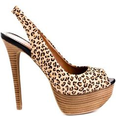 Leopard print, Jessica Simpson. Yes please :). Jessica has to have some of the sexiest shoes in the business. Love the way the platform balances out the high heel.