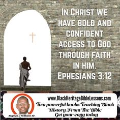 """""""In Christ we have bold and confident access to God through faith in him."""" Ephesians 3:12 CEB http://bible.com/37/eph.3.12.ceb"""