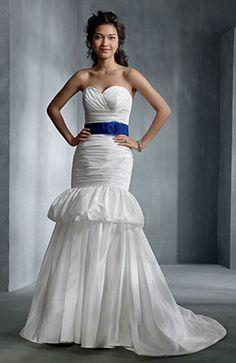 [Two In One Wedding Dress]Taffeta Sweetheart Ruched Chapel Train Wedding Gown  Style Code: 08539  US$169.00  #weddingdresses