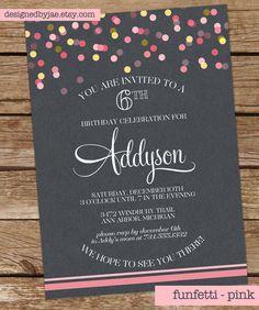 Funfetti Birthday Invitation