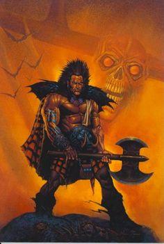 "Slaine #2000AD  The ""warped warrior"" - Celtic superhero, an ancient Briton with attitude. Romans beware."
