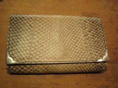 salmon leather wallet