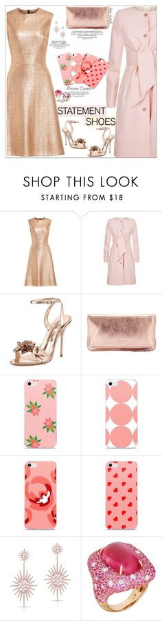 """""""Double Take: Statement Shoes"""" by atelier-briella ❤ liked on Polyvore featuring Lela Rose, Ted Baker, Sophia Webster, Liebeskind, Anne Sisteron, Margot McKinney, Gucci, Elegance, iPhonecases and statementshoes"""