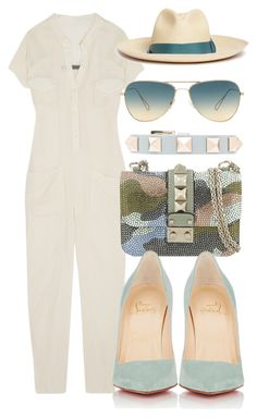 """""""Untitled #258"""" by scannedbyaaron ❤ liked on Polyvore featuring Rick Owens, Valentino, Christian Louboutin, Sensi Studio and Oliver Peoples"""