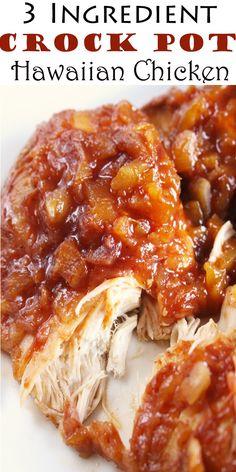 3 Ingredient Crock Pot Hawaiian Chicken #3Ingredient #CrockPot #Hawaiian #Chicken #3IngredientCrockPotHawaiianChicken