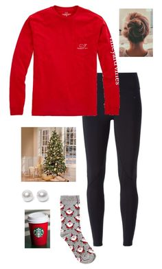 """putting up the Christmas tree #itsjustacup"" by gabbbsss ❤ liked on Polyvore featuring NIKE, Vineyard Vines, Oasis and Nouv-Elle"