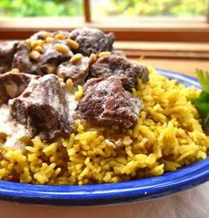 Palestinian mansaf is not humble food, served just to your family, like mujjadara and fasoulia and shorabat addas. This is celebra...