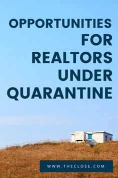 Opportunities for Realtors Under Quarantine What sort of daily activities are you doing that is upping your real estate game? Here's a list of things you can do right now to keep your real estate business moving while dealing with this crisis. Real Estate Business Plan, Real Estate Career, Real Estate Office, Real Estate Tips, Real Estate Sales, Real Estate Investing, Real Estate Marketing, Business Marketing, Getting Into Real Estate