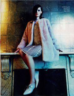 Fur Coat and Dress Fabulous Magazine Nov 2914