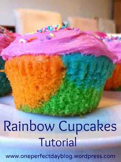 Rainbow cupcakes tutorial. Super easy to make - so fun to eat. What's your favorite flavor of cupcake?