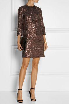 No. 21|Annalisa metallic sequined mini dress|NET-A-PORTER.COM