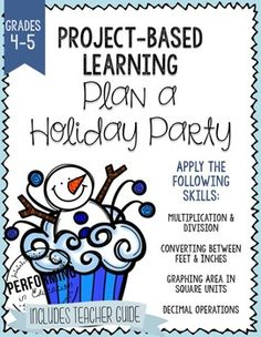 Project-based learning (PBL) for Christmas, Winter, or December. Great for Common Core Math. Help your students practice decimal operations and more with this quality math project-based learning for grades 4 and 5. It includes a teacher guide walking you through each step.