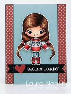 Stamp Anniething - Skin - E13, E11, E01, E00, E000, R30 Hair - E59, E27, E25, E23 Leg Warmers, Hairbands, Sweater - R59, E09, E08, R22, R20 Jeans - BG78, BG75, BG72, BG70 Sweater (blue stripe) - BG72, BG70 Sweater (white stripes) - T1, T0, C00