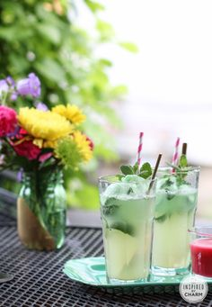 Ginger & Mint Lime Floats