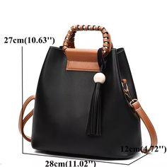 0237b2dcbaf6 Hot-sale designer Stylish PU Leather Handbag Bucket Bag Shoulder Bags  Crossbody Bags For Women