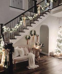 Christmas Entryway, Christmas Home, Elegant Christmas, Rustic Christmas, Christmas Living Room Decor, Christmas Ideas, Christmas Cookies, Christmas Mantels, Merry Christmas