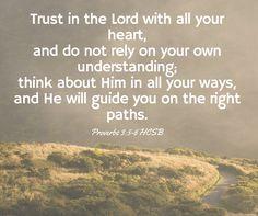 Proverbs 3:5-6 #bible #bibleverse #bibleverses #bibleverseoftheday #proverbs #faith #christian #wordsearchbible #trust #guidance #hcsb