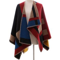 24c09162546 Cheap knitted cardigan, Buy Quality cardigan poncho directly from China  cardigan fashion Suppliers: Wool Oversized Sweaters Winter Cashmere Plaid  knitted ...