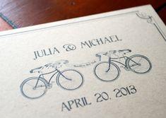 Simple  http://ivajean.com/2013/06/bike-theme-wedding-ideas/