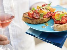 Plus: FW's Grilling Guide More Tomato Recipes More Grilled Appetizers . Grilled Bread, Grilled Food, Gluten Free Puff Pastry, Grilled Tomatoes, Roasted Tomatoes, Italian Appetizers, Original Recipe, Food Preparation, Clean Eating Snacks