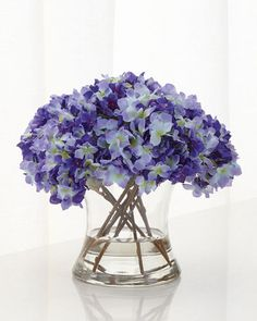 H8DMU John-Richard Collection Purple Haze Faux-Floral Arrangement