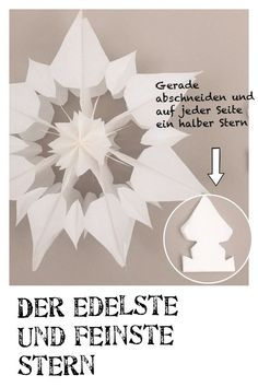 Stern aus Papier, Anleitung, Weihnachtsstern basteln Make a star out of paper, instructions, poinsettia Image Size: 736 x 1103 Source Diy And Crafts, Christmas Crafts, Crafts For Kids, Christmas Ornaments, Poinsettia, Diy Paper, Paper Crafting, Winter Christmas, Christmas Holidays