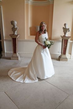 Stunning bride in a beautiful dress at Danson House