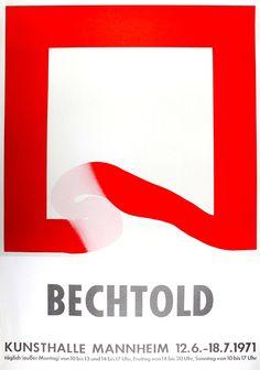 """Erwin Bechtold: Kunsthalle Mannheim, 1971: """"BECHTOLD"""" Kunsthalle Mannheim, 1971 Originalentwurf, Farboffset 86 x 60 cm guter Zustand Halle, Symbols, Letters, Website, Design, Poster Poster, Posters, Mannheim, Poster"""