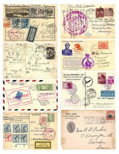 Free Vintage Images - Postal Collage