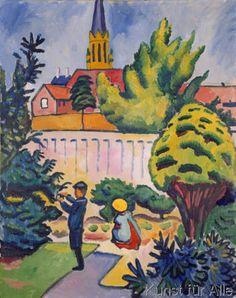 August+Macke+-+Kinder+im+Garten
