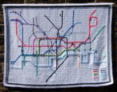 This London underground map.