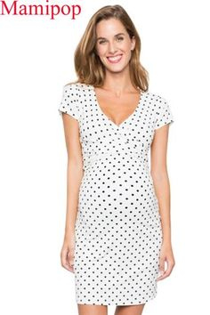 The summer v neck maternity polka dot print breastfeeding dress is a good choice of fashion and you will love it. Polka Dot Print, Polka Dots, Summer Maternity Fashion, Breastfeeding Dress, Baby Shower Dresses, Daily Dress, Pregnancy Outfits, Maternity Dresses, Short Sleeve Dresses