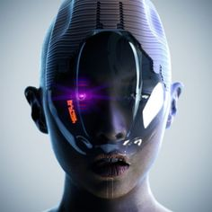 Cyber future face mask