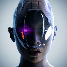 Cyber future face mask