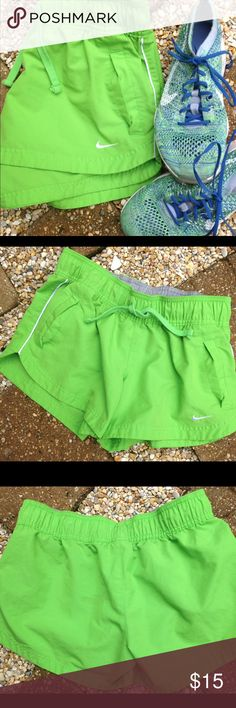 Nike athletic shorts from The Athletic Dept. Cute and comfortable to work out, walking, summer sports, or any outdoor occasion. Pockets in the front, elastic waist band and tie in the front. Nike Other