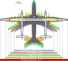 Veja os primeiros vislumbres do maior avião da história, com envergadura de 117 metros e projetado para transportar e lançar um foguete gigante ao espaço