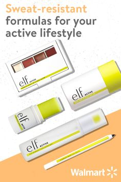 Discover an innovative collection of sweat-resistant formulas that are hydrating, lightweight, and won't clog pores. From refreshing wipes to eye pencils that stay put, upgrade your workout routine with e.l.f. active, available at Walmart.