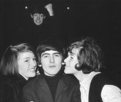 He's surrounded by women and yet he still looks awkwardly uncomfortable. Love the Paul photobomb, too. (submitted by shestooemotional)