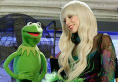 Lady Gaga and Kermit the Frog