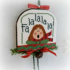 Christmas Caroler Door Hanger Cross Stitch от SnowBerryNeedleArts