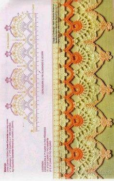 ЕЛЕНА КОРОТКОВА – Google+ Crochet Edging Patterns, Crochet Lace Edging, Border Pattern, Crochet Borders, Crochet Diagram, Hand Embroidery Patterns, Lace Embroidery, Irish Crochet, Crochet Doilies
