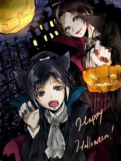 「Happy Halloween!」/「サキマリ@ついったー」のイラスト [pixiv]