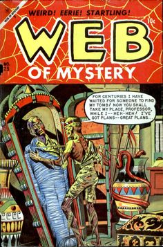 Comic Book Cover For Web of Mystery #23