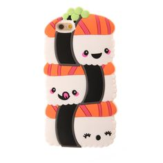<P>Cover your iPhone 6 or 6s with this cute Japanese cuisine. Three smiling salmon sushi pieces are stacked on top of one another for a fun and yummy style.</P><UL><LI>3D silicone cover<LI>Sushi design<LI>iPhone 6 & 6s compatible</LI></UL>